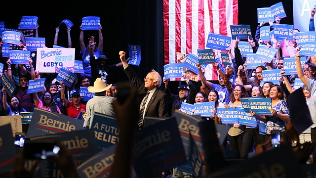 Bernie Sanders Ralley at the Verizon Theater in Grand Prairie (between Dallas and Fort Worth) on Saturday, February 27, 2016